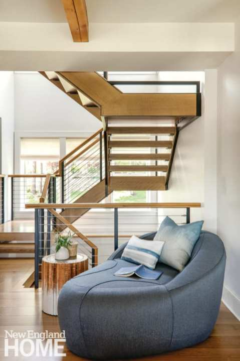 Wood and wrought iron staircase