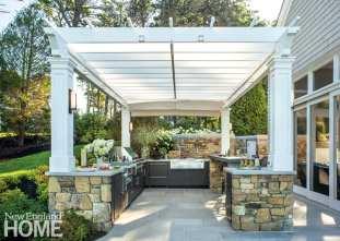 Cape Cod outdoor kitchen.