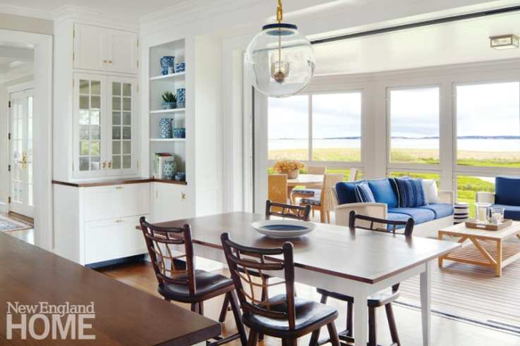 Dining area of Martha's Vineyard kitchen. a