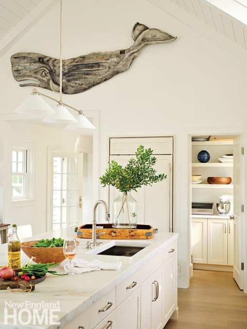 white kitchen on Nantucket