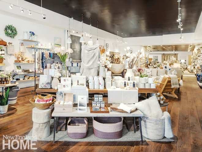 "Slate's front table, which is updated with new products weekly, gives shoppers a taste of the store's lifestyle offerings. This recent display features selections from the boutique's ""wellness and renewal"" curation."