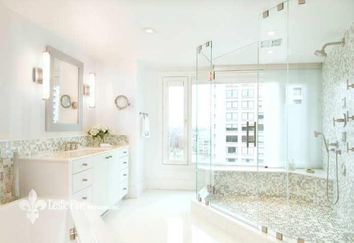 Leslie Fine luxury all white bathroom