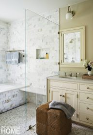 Cream and white bathroom