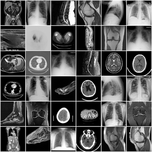 collage of many radiology pictures