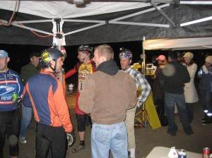 The break between the two races and a chance to pound a beer