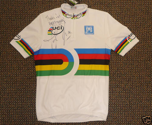 eBay auction of Phinney's World Champion jersey to benefit USA Cycling Devolopment Foundation