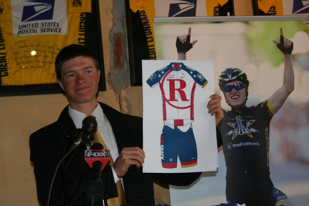 Ben King unveils Team RadioShack kit at US Pro press conference