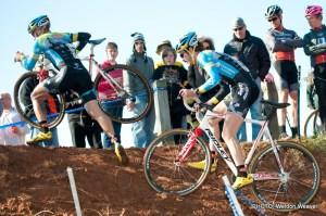 Adam Myerson, Travis Livermon. NCCX 10 State Championships Winton Salem, NC Decmeber 18. 2011. Photo by Weldon Weaver