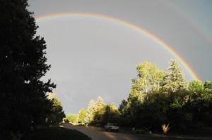 Rainbow over Boulder Colorado