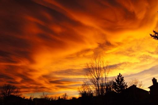 Boulder Orange Sunset