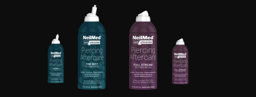 a view of NeilCleanse products: 177mL and 75mL fine mist and full spray options
