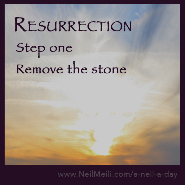 step one remove the stone