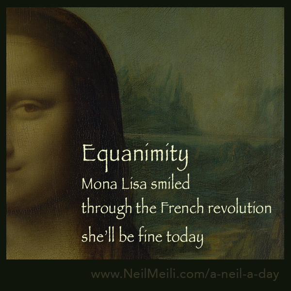 Mona Lisa smiled through the French Revolution she'll be fine today