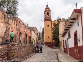 Restoration work at Cerro de San Pedro