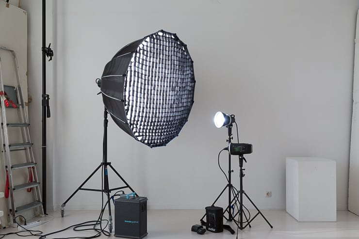 studio rentals equipment  Para 120cm Godox AD600BM