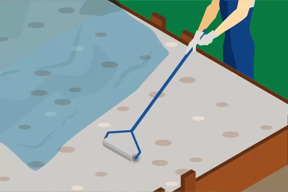 concrete curing with plastic sheet