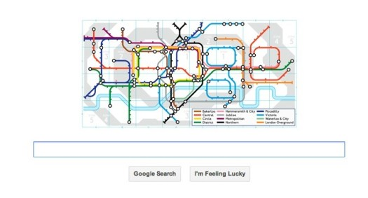London Underground 150th Anniversary Google Doodle