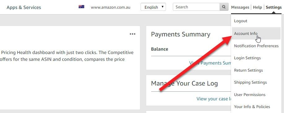 How to set your Amazon store settings