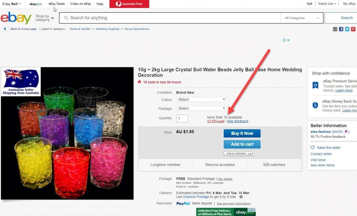 The Best Selling Items on eBay?