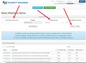 Scarcity manager