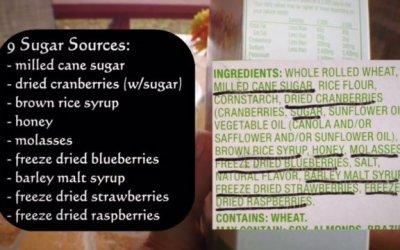 9 sugar sources in a healthy cereal?