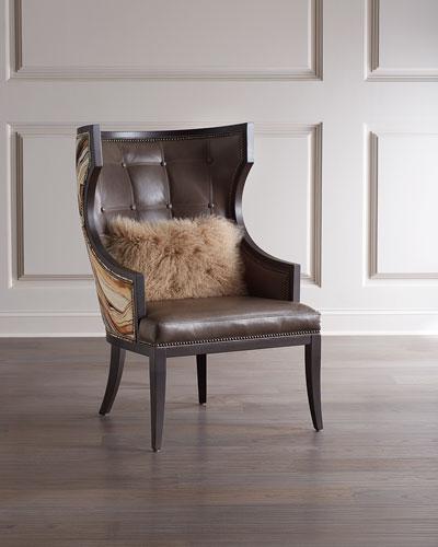 Leon S Naples Leather Sofa