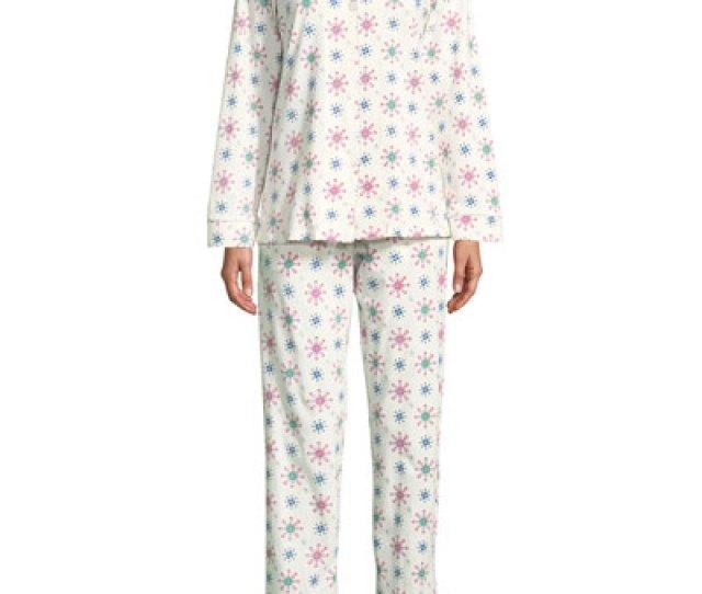 Quick Look Bedhead  C B Holiday Snowflake Classic Pajama Set