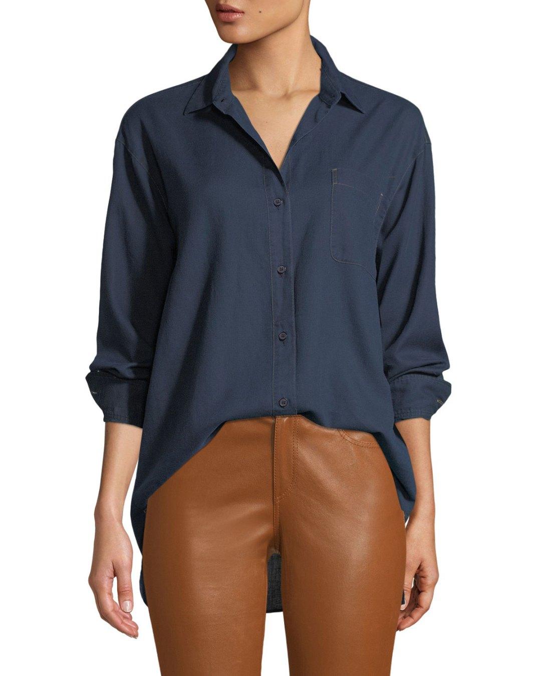 19c77c6953b Neiman Marcus – Everson Nocturnal Cotton Pocket Blouse –  388.00