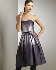 Carolina Herrera Lame Degrade Dress