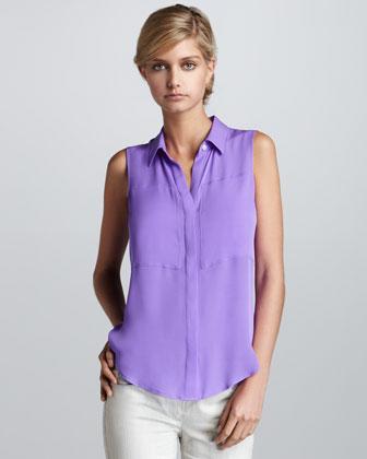 Фиолетовая блузка