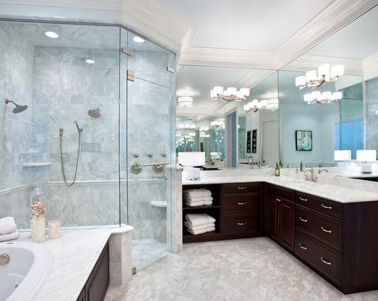 Gray Porcelain Tile Bathroom