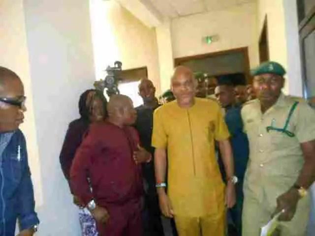Nnamdi Kanu appears in the Nigeria court