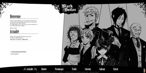 «Black Butler» avec site officiel français