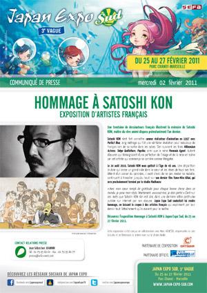 Hommage à Satoshi Kon à la Japan Expo Sud