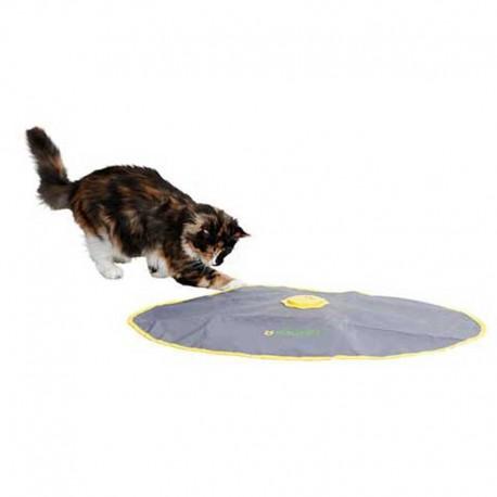 jouet interactif chat ca bouge tout seul sous un tapis