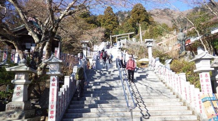 阿夫利神社の階段