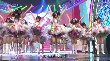 Währenddessen lässt man in Japan Oberschülerinnen in kurzen Röcken springen. Agree!
