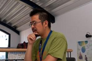 Herr Ikawa beim Interview