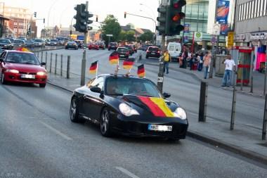 WM Deutschland gegen Argentinien am Hauptbahnhof