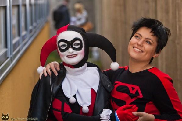 AniMaCo 2014, Berlin Cosplay Harley Quinn & Superboy
