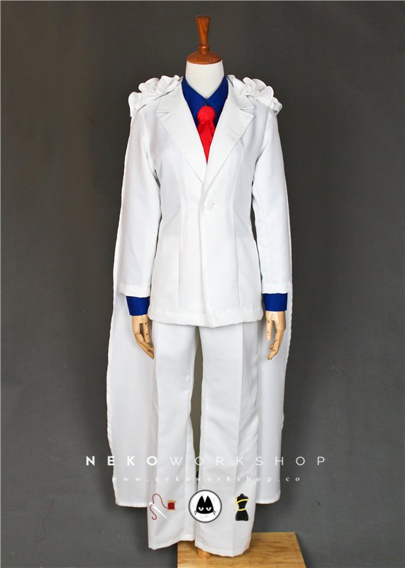 Magic Kaito Detective Conan Kaitou Kid Cosplay Costume