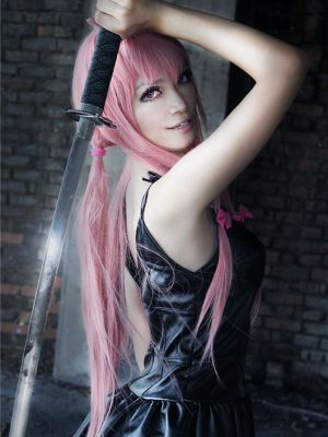 gasai yuno mirai nikki future diary cosplay costume black dress