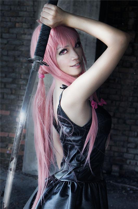 gasai yuno mirai nikki future diary cosplay costume black dress