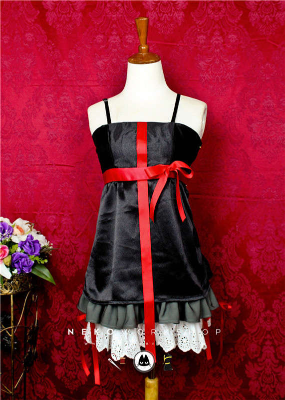 guilty crown inori yuzuriha cosplay costume black dress