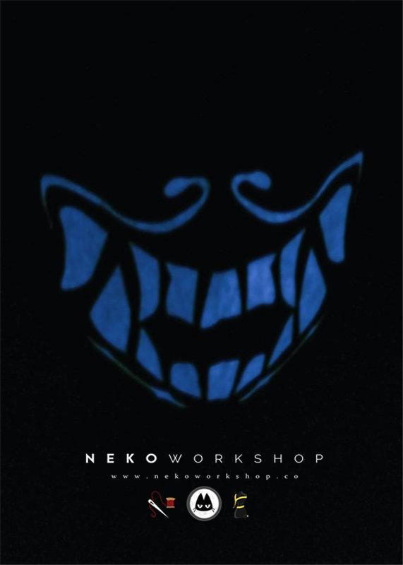 kda akali mask glow in the dark face mask cosplay