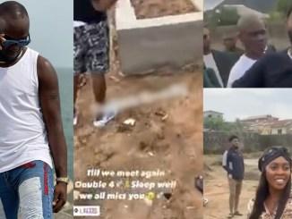 Davido and Tiwa Savage visits Obama DMW's grave in Epe, Lagos (video)