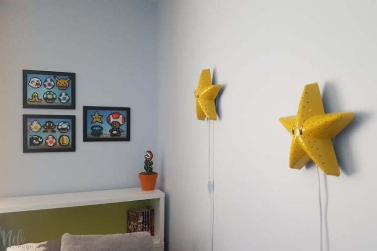 How to decorate a boy\'s room using his Perler beads crafts | NeliDesign