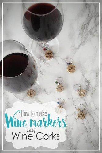 wine glass marker, tutorial, wine charms, marqueur à vin, cadeau, DIY, gifts, glass of wine, wine corks, bouchons de liège