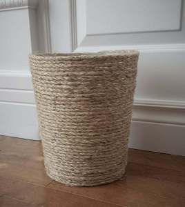 Rustic garbage can | bathroom | DIY | Easy |