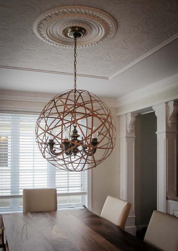 comment transformer un luminaire suspendu pour la salle d ner nelidesign. Black Bedroom Furniture Sets. Home Design Ideas